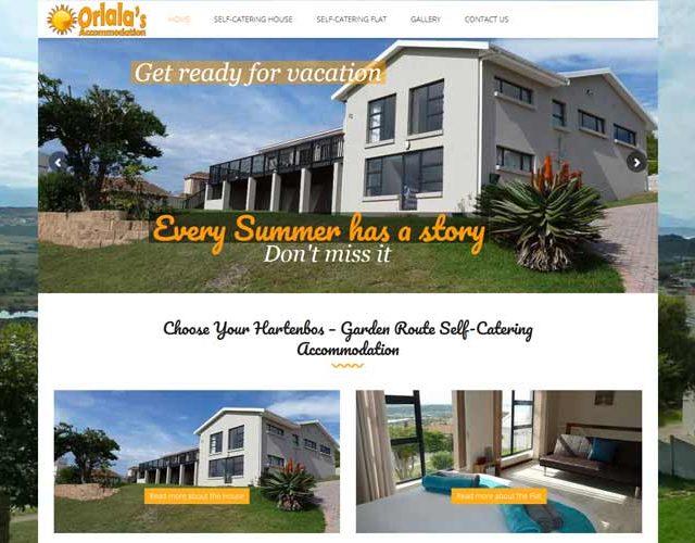 QumStudios Website Portfolio Orlalas Accommodation Hartenbos