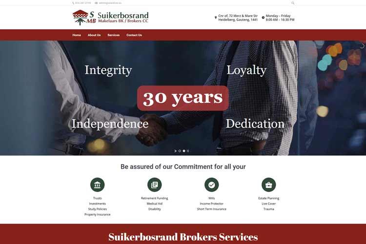 QumStudios Website Portfolio Suikerbos Brokers