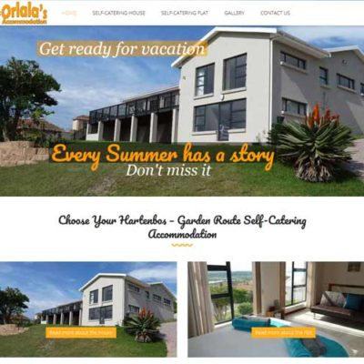QumStudios Website Portfolio Orlalas Accommodation Hartenbos