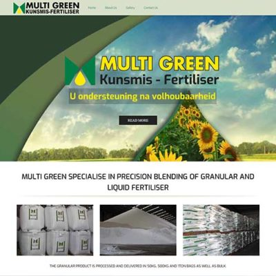Qum Studios Website Design Portfolio - Multi Green Kunsmis - Fertiliser