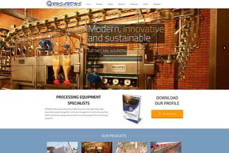 Qum Studios Website Design Portfolio - RUSANDUS Engineerd Processing Solutions