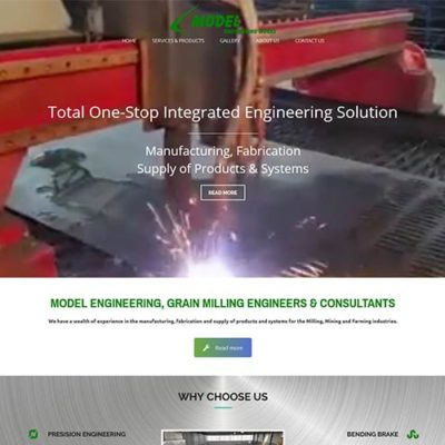 Qum Studios Website Design Portfolio Model Engineering Works Website
