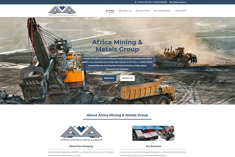 Qum Studios Website Portfolio Africa Mining Metals Group