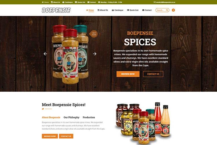 Qum Studios Website Portfolio Boepensie Spices