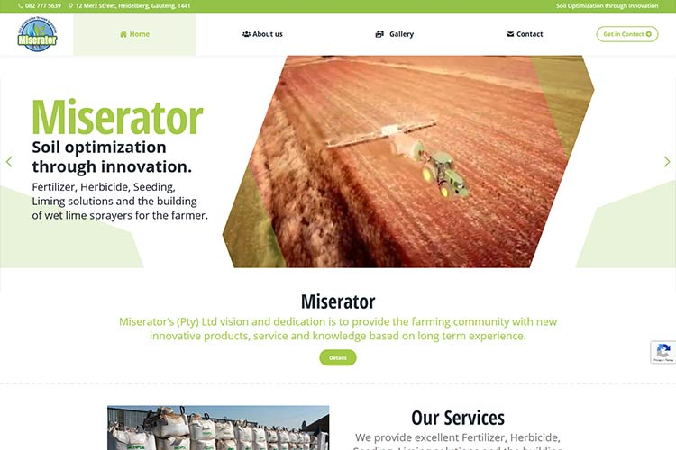Qum Studios Portfolio Miserator Website